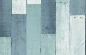 ELEMENTS TAPETA WOODEN WALL Aqua 35