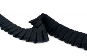 TAŚMY VICTORIAN LACE PLEATED TAPE 21.194 Nero