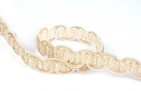 TAŚMY BAROQUE BRAIDED TAPE AG.387E Marzipan