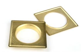 SQUARE DECORING SQUARE 40 MM Satin Gold