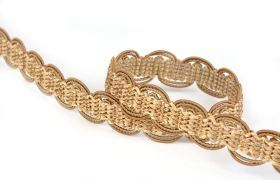 TAŚMY BAROQUE BRAIDED TAPE AG.387E Gold