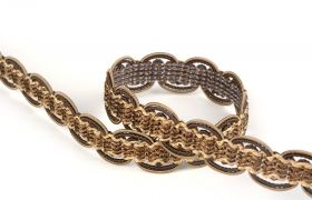TAŚMY BAROQUE BRAIDED TAPE AG.387E Toffee