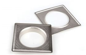 SQUARE DECORING SQUARE 40 MM Satin Nickel