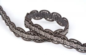 TAŚMY BAROQUE BRAIDED TAPE AG.387E Graphite