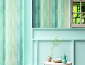 TAPETA WOODEN PANEL Turquoise 17 - Wallpaper alt_tapety_kolor_turquoise 17 Checked Graphics - Texture