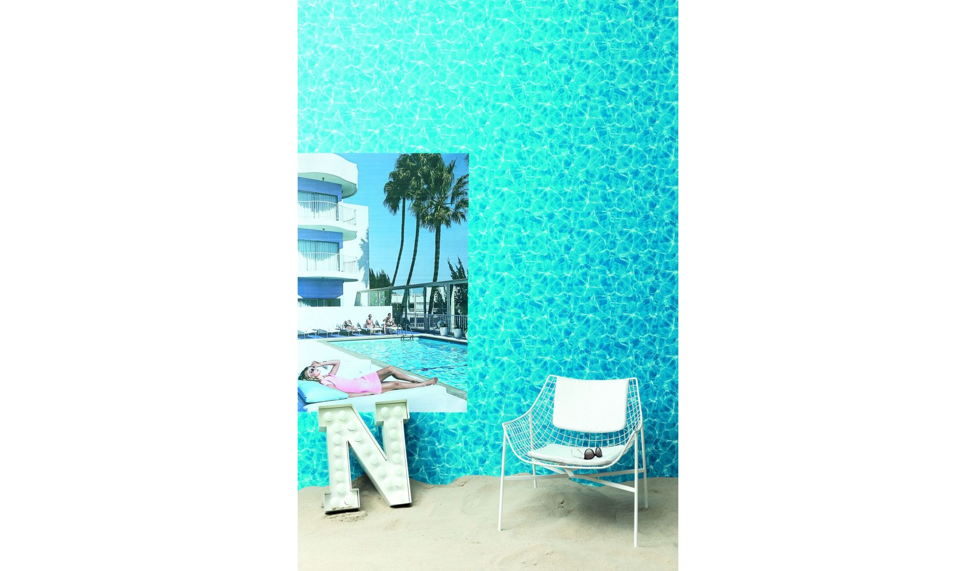 TAPETA WATER CASCADE Denim 45 - Wallpaper alt_tapety_kolor_denim 45 Checked - Texture