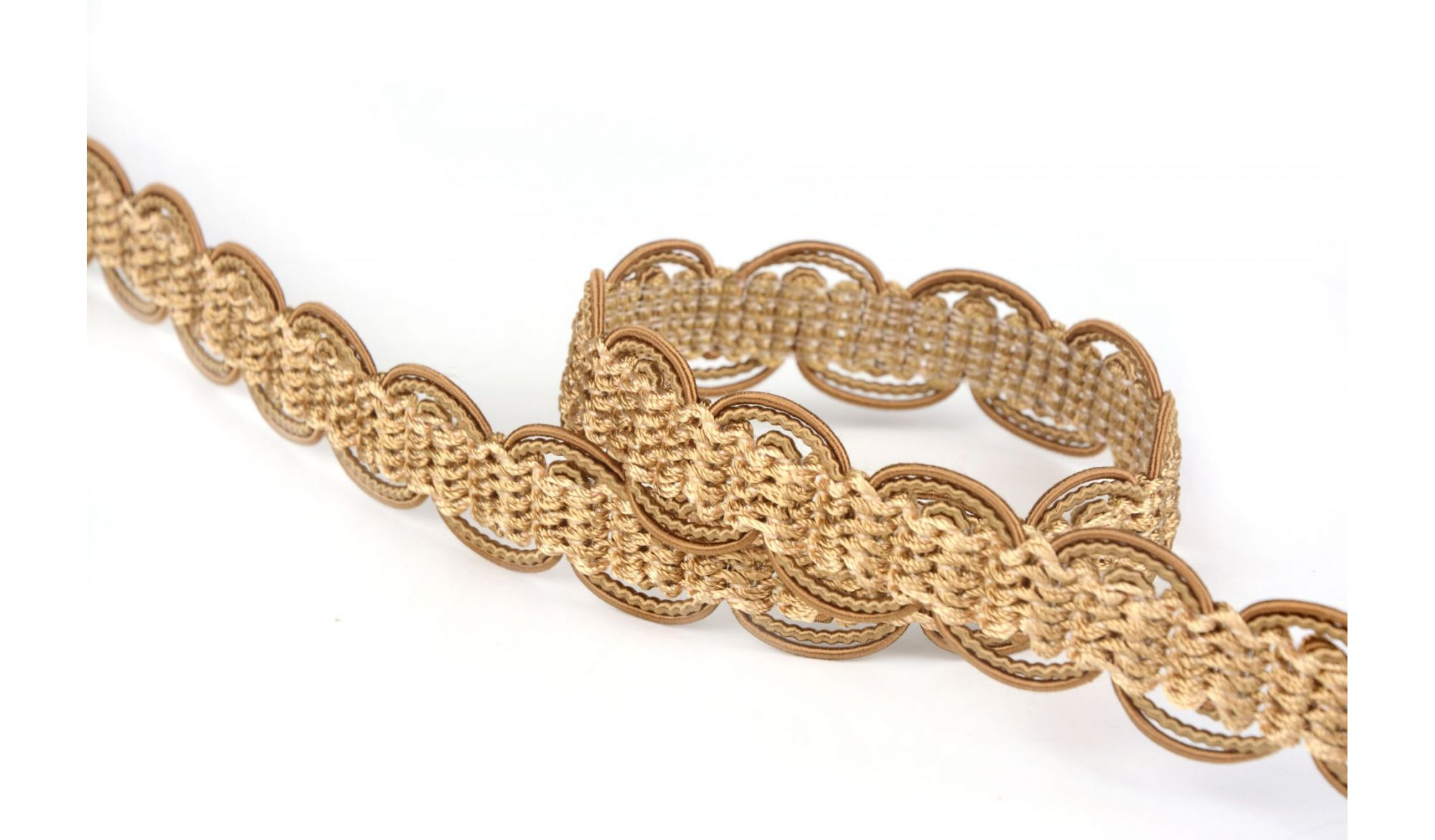 BRAIDED TAPE AG.387E Gold - Trimmings alt_pasmanteria_kolor_gold decorative Upholstery - Colour