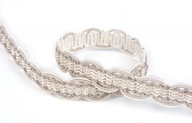 TAŚMY BAROQUE BRAIDED TAPE AG.387E Silver